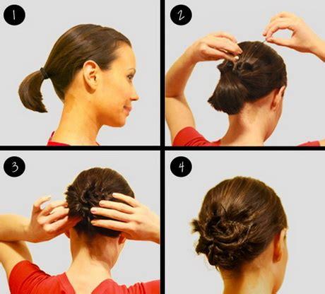 Hairstyles For Short Hair Bun | bun hairstyles for short hair