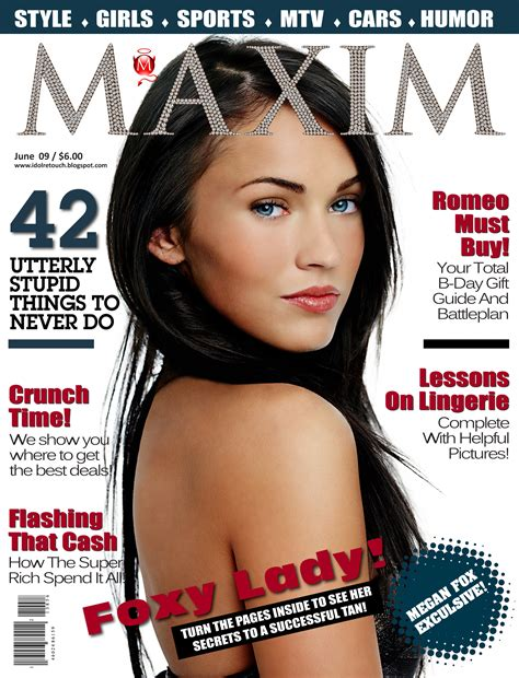 To Be A Magazine Cover Model by Megan Fox Maxim Magazine Cover Ukmf Uk Model Folios By