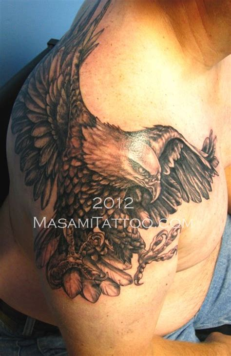 tattoo eagle on shoulder tattoos by masami black grey tattoos dakini tattoo