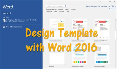 create template in word how to design template with word 2016 wikigain