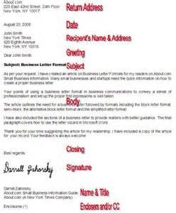 proper business letter proper formal business letter format