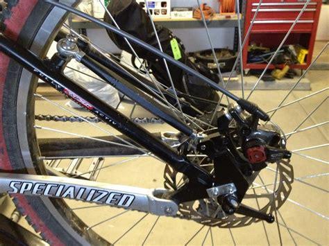 brake therapy mountain bike rear disc brake conversion kit bicycling