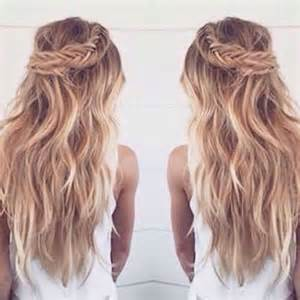 braided updo hairstyle with and wavy hair 15 beachy wavy hair long hairstyles 2016 2017