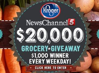 News Channel 5 Kroger Grocery Giveaway - nashville tn news weather sports newschannel 5 wtvf