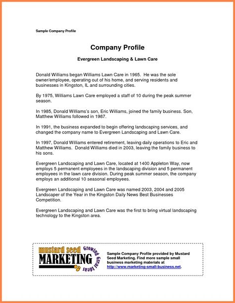 small business profile template it resume cover letter