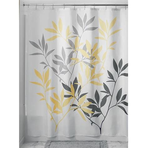 gray yellow shower curtain gray and yellow shower curtain fabric shower curtain