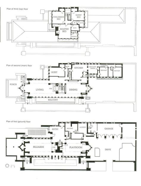 frank lloyd wright style home plans 17 best images about wright frank lloyd robbie house on