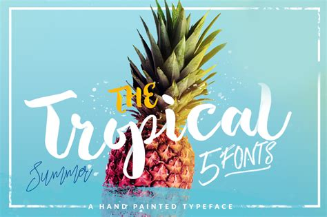 the tropical script font befonts com