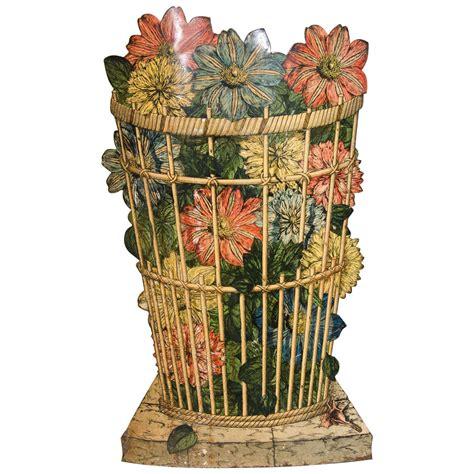 Piero Basket piero fornasetti open umbrella stand 1960s decorated