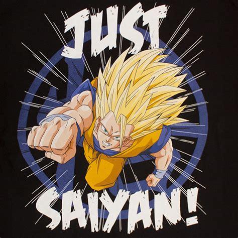 Tshirt Saiyan black z just saiyan s tshirt