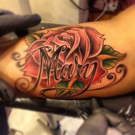 rose with name tattoo tattoos designs and tattoos and on