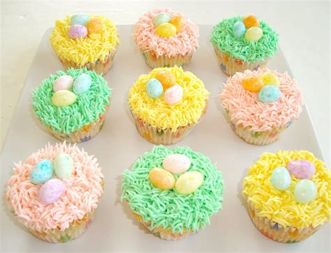 paris pastry easter nest cupcakes