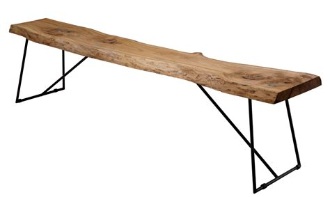 natural wood benches old times bench natural wood black leg by zeus