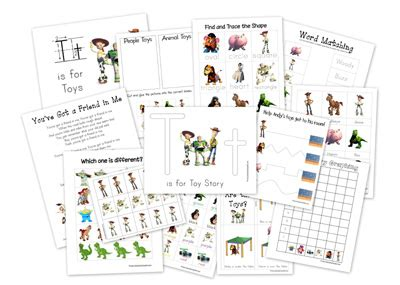 toy story printable activity sheets 1 1 1 1 toy story preschool printables