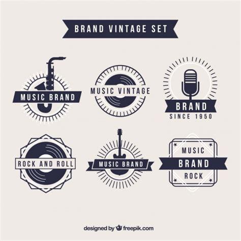 imagenes vintage marcas logos retro de marca de m 250 sica descargar vectores premium