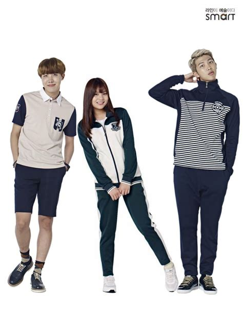 bts x gfriend 테시예유쓰 on twitter quot bts x gfriend smart uniform 2016 suga