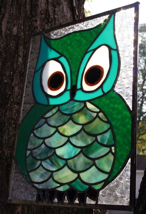 144 Best Stained Glass Owls Eagles Images On Pinterest