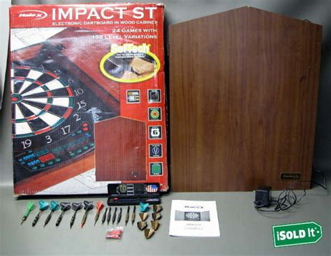 halex electronic dartboard wood cabinet halex impact st electronic dart board 65154 in wood