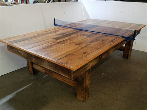 wooden pong table reclaimed wood ping pong table eye catching unique