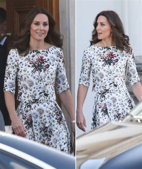 duchess of cambridge duchess of cambridge wears white floral dress for day two