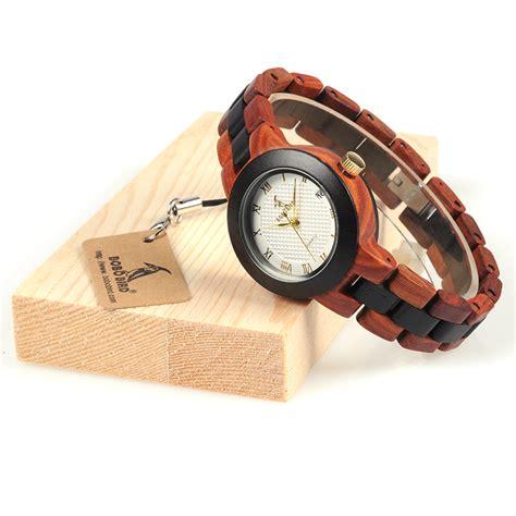 Bobo Bird 2017 Two Tone Wooden For Quartz Brand Design bobo bird 2017 two tone womens wooden