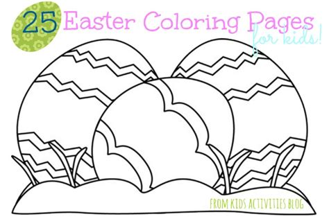 free coloring pages of easter activities pages
