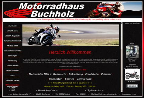 Honda Motorrad Greifswald eckhard buchholz in greifswald motorradh 228 ndler