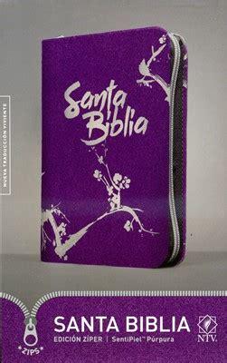 libro santa biblia nvi edicion biblia ntv edicion ziper purpura cierre gris