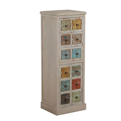 Union Jack Home Decor molly multi colored 4 drawer tall accent chest