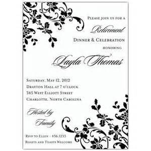 free retirement invitations templates invitation template