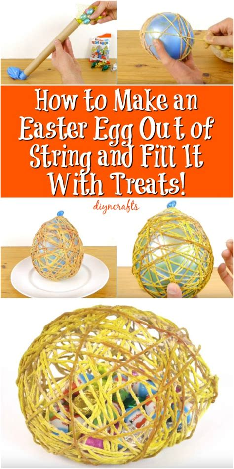 How To Make An Easter Egg Out Of Paper - how to make an easter egg out of string and fill it with