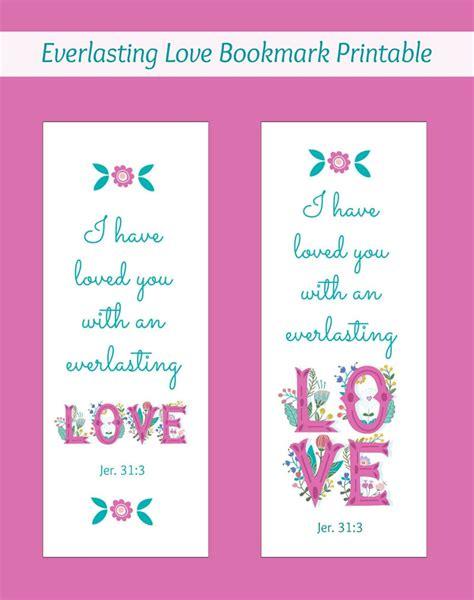 printable bookmarks love everlasting love bookmark printable simply southern baking