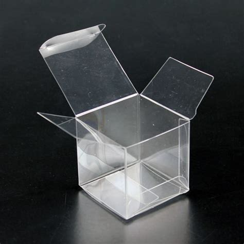 Box Plastik Untuk Diy 10cm clear cube box