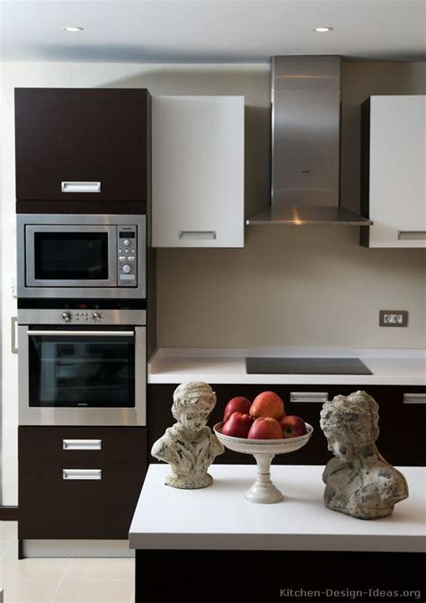 Pictures Of Kitchens Modern Two Tone Kitchen Cabinets Black And Kitchen Designs 2