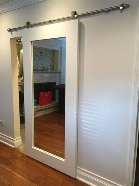 barn door closet doors 20 mirror closet and wardrobe doors ideas shelterness