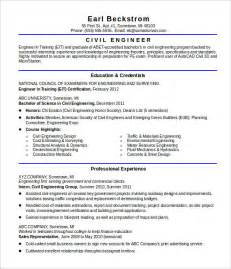 professional resume sles for engineers 16 civil engineer resume templates free sles psd