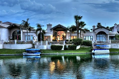 scottsdale waterfront homes mediterranean exterior