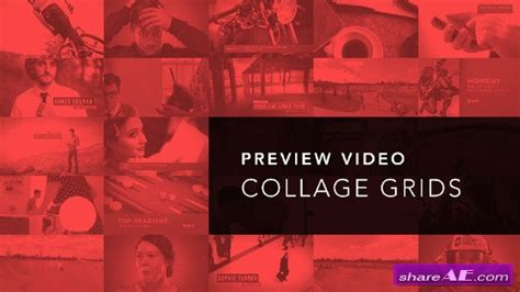 Preview Video Screen Collage Grids After Effects Project Videohive 187 Free After Effects Collage After Effects Template Free