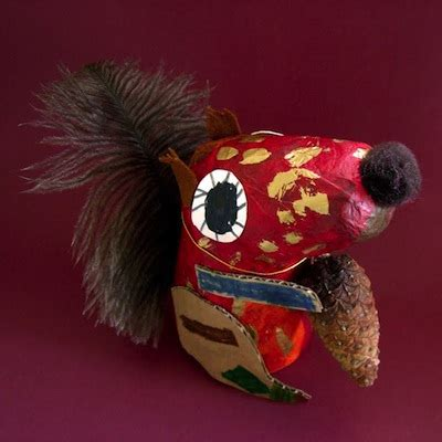 Paper Mache Things To Make - paper mache squirrels things to make and do crafts and