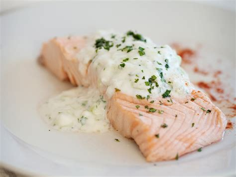 poached salmon recipes poached salmon with cucumber raita recipe quick from