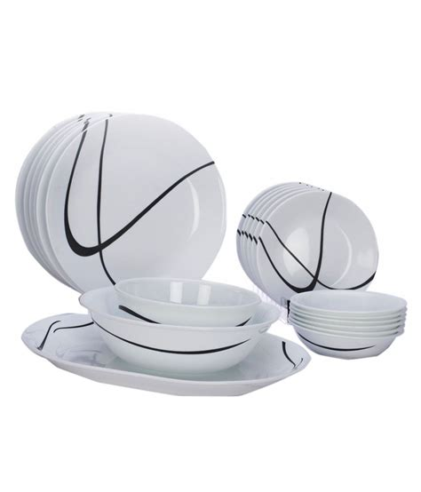 corelle deals corelle 21 pcs dinner set india impressions twists turns snapdeal price dinner sets deals at
