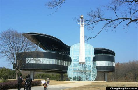 world famous house design grand piano and violin shaped house in china is the ultimate place for music lovers
