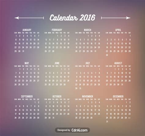 calendar template ai 2017 calendar template blurred background vector cdrai