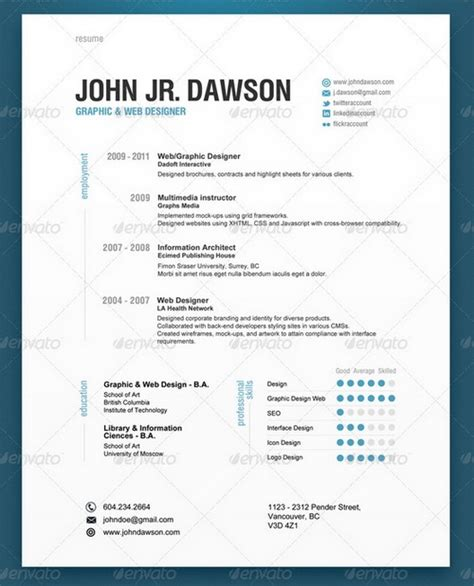 contemporary resume template images free 30 modern and professional resume templates