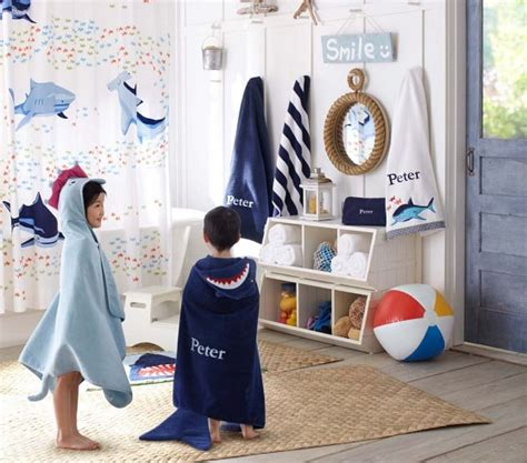 kids bathroom ideas for boys and girls shark bath mat pottery barn kids