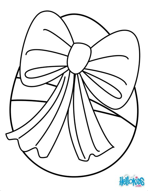 surprise egg coloring page egg with ribbon coloring pages hellokids com