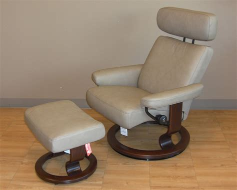 stressless leather chair and ottoman stressless paloma stone leather by ekornes stressless