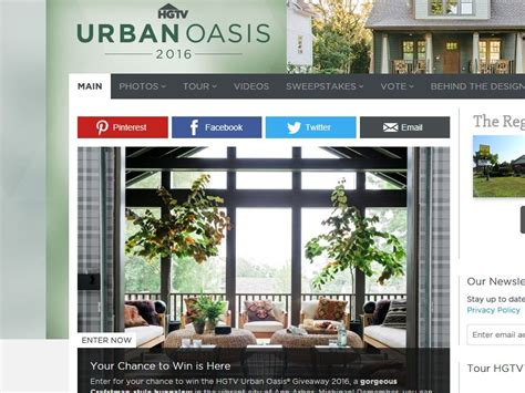 Diy Urban Oasis Sweepstakes - hgtv urban oasis 2016 sweepstakes rules autos post