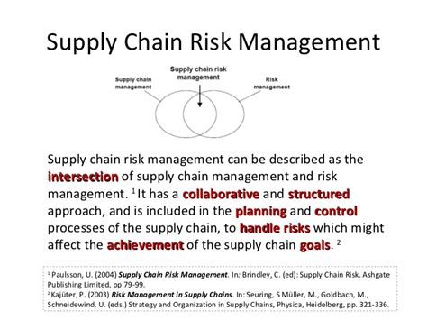 Mba In Supply Chain Management In Canada by Supply Chain Risk