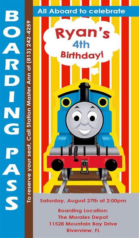 doc 600600 thomas the tank engine birthday invitations